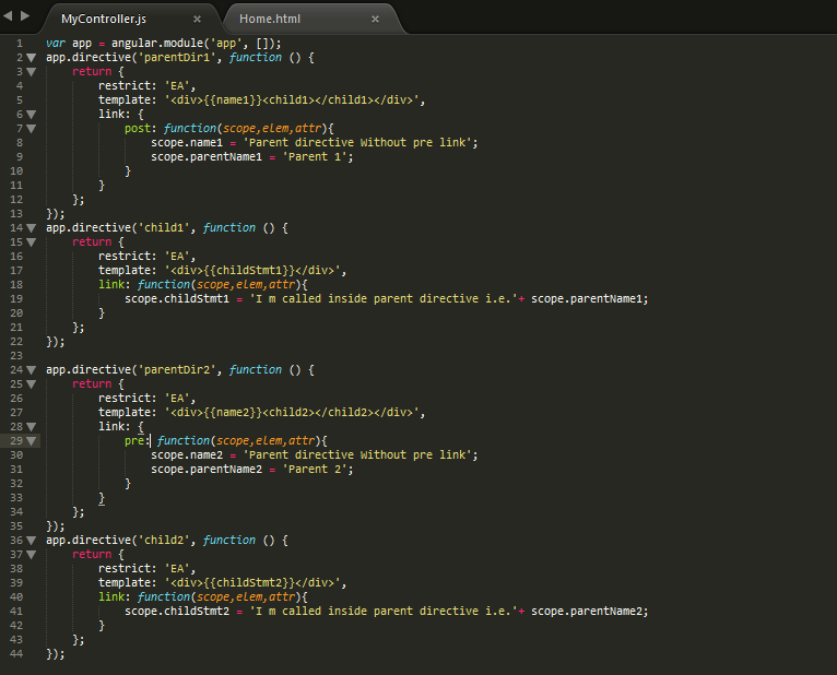 Compile Pre Post Options In Angularjs Codeproject