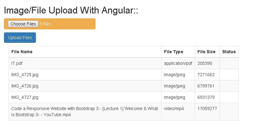 Multiple File Upload using AngularJS and ASP net MVC