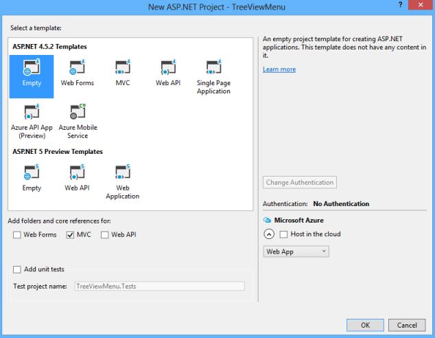 Creating Dynamics Tree View Menu in ASP NET MVC 4 in a Dirty