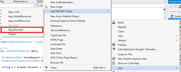 How to detect browsers in ASP NET with browser files - CodeProject
