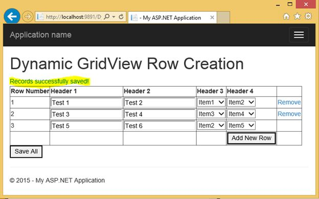 Dynamically Adding and Deleting Rows in GridView and Saving