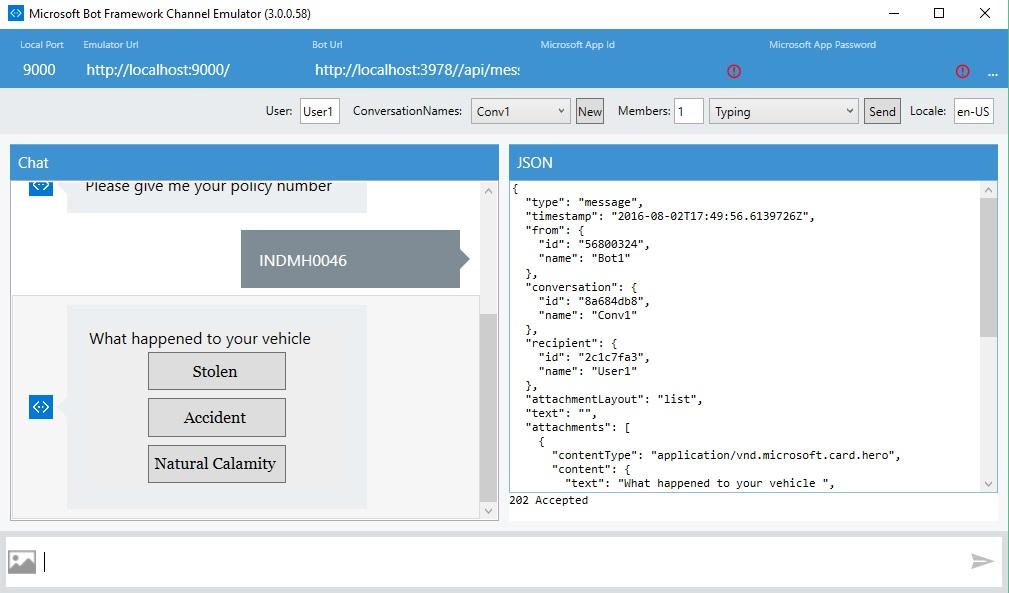 Building a Bot using C# and Debugging using Bot Framework