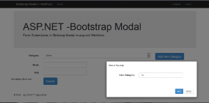 Simple Form Submission With Bootstrap Modal – ASP NET WebForm