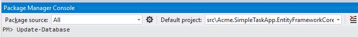 Update-Database