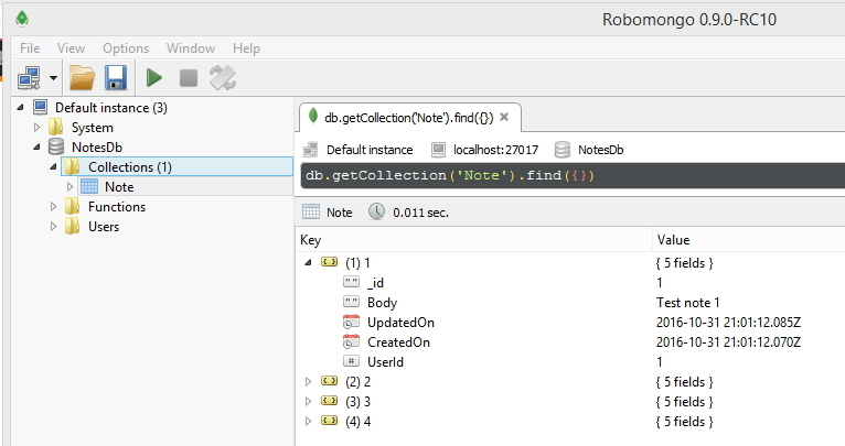 Using MongoDB  NET Driver with  NET Core WebAPI - CodeProject