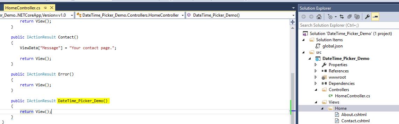 DateTime_Picker_MVC_ASPNET_CORE__Action_Method