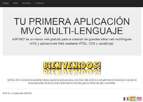 Home Page Spanish ScreenShot