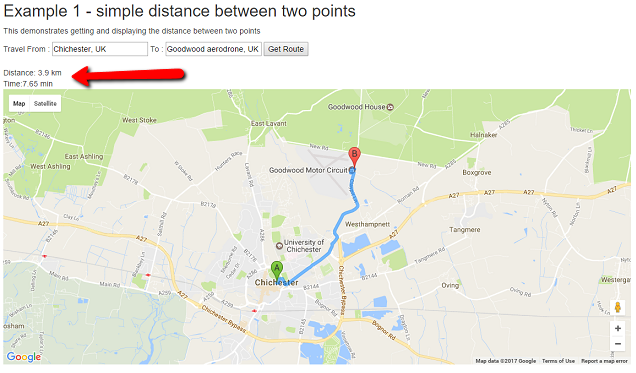 Calculating Distance Using Google Maps in ASP NET MVC - DZone Web Dev