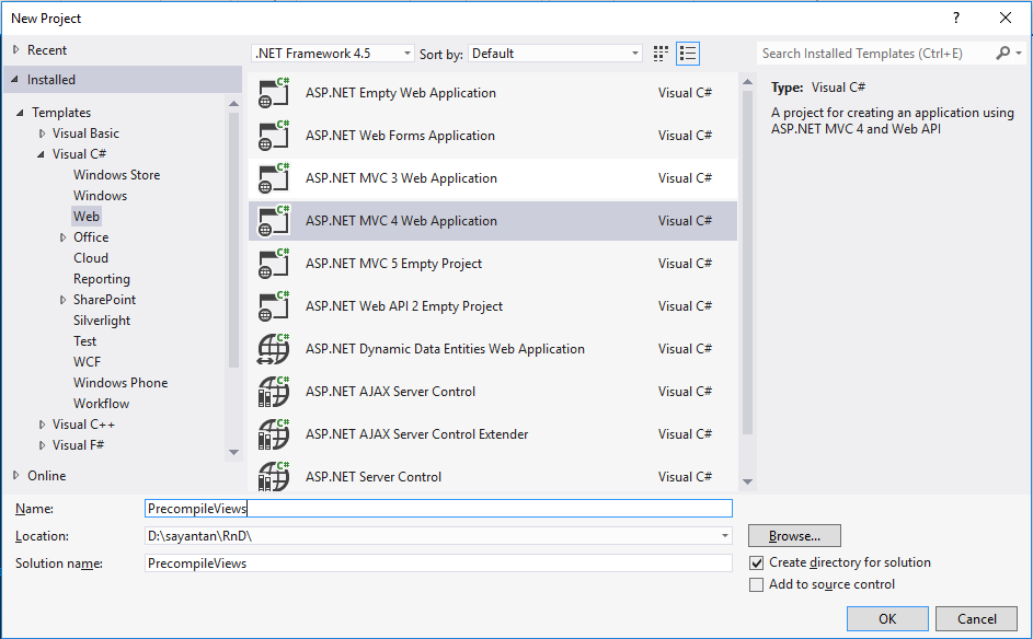 Pre Compiled Razor View In Asp Net Mvc Codeproject
