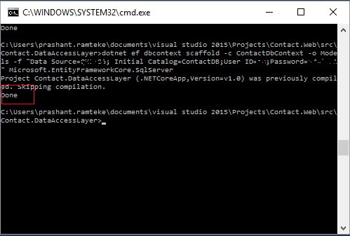 Execute Stored Procedure using Entity Framework Core in  NET