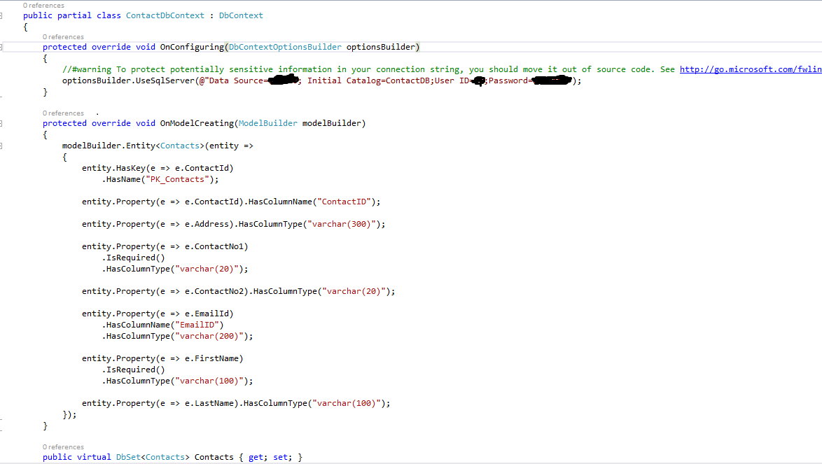call stored procedure from c# using entity framework