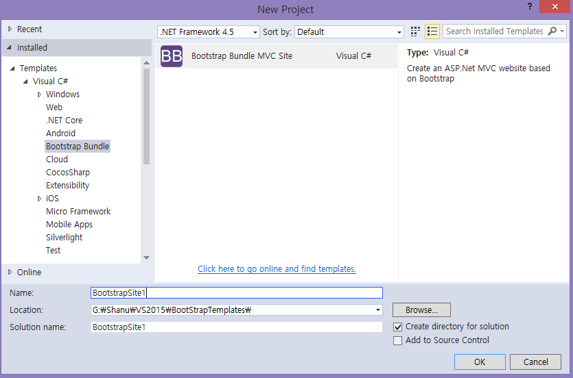 Customizing asp net mvc bootstrap templates codeproject for Customizing project templates