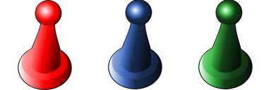 red green blue pawn