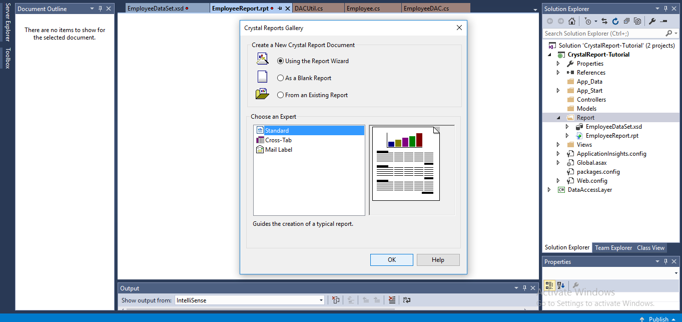 how to create report in asp net 2010 using c