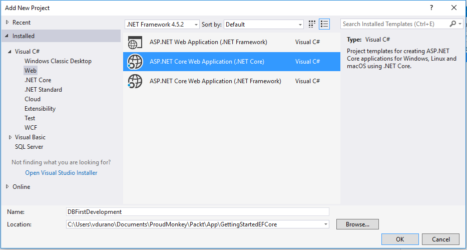 Getting Started with Entity Framework Core: Database-First