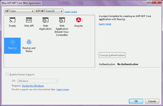 fig 2: New ASP.NET Core Web Application dialog