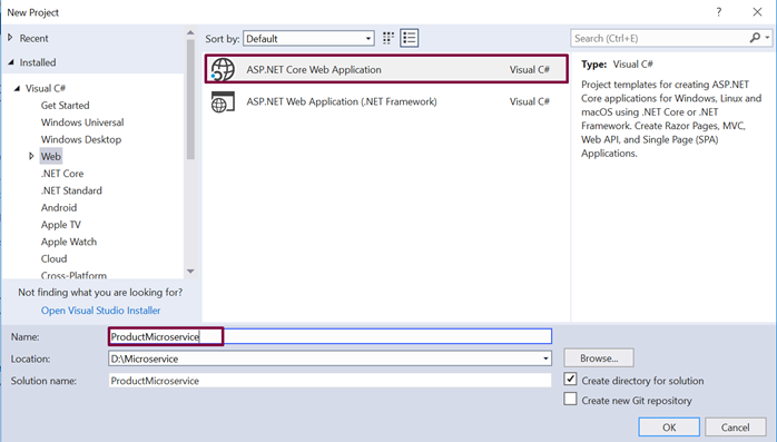 Microservice using ASP NET Core - ContentLab