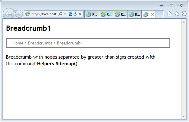 breadcrumbs in webmatrix web pages codeproject