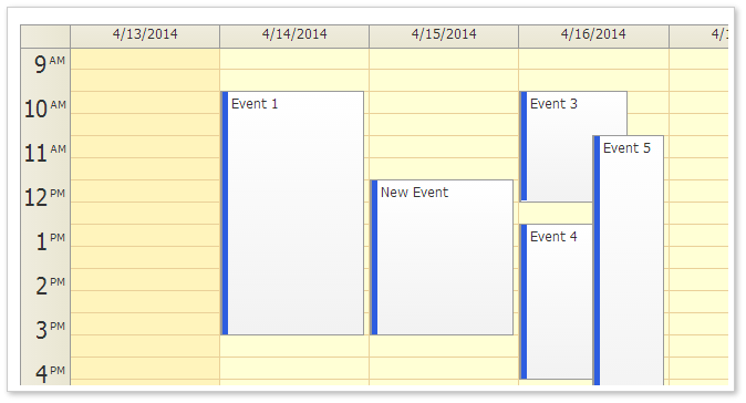 AJAX Event Calendar for ASP.NET MVC - Traditional CSS Theme