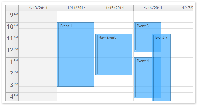 AJAX Event Calendar for ASP.NET MVC - Transparent CSS Theme