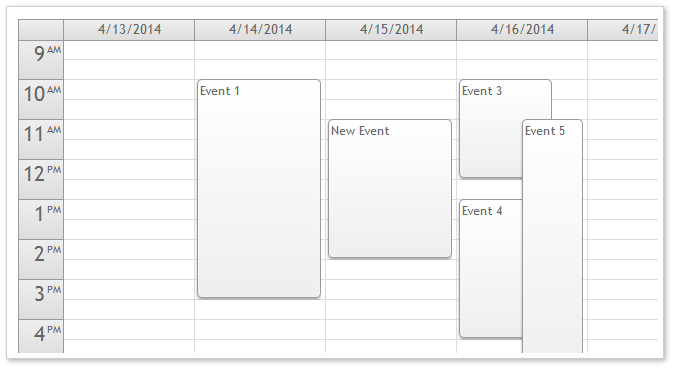 AJAX Event Calendar for ASP.NET MVC - White CSS Theme