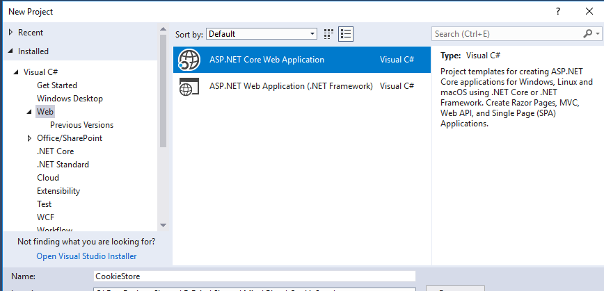 Creating ASP.NET Core 2.2 Application Step-by-Step