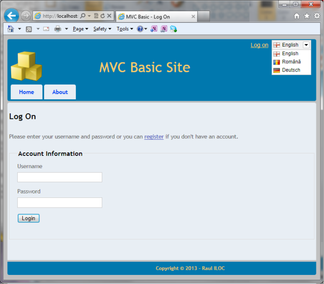 MVC Basic Site: Step 1 – Multilingual Site Skeleton - CodeProject