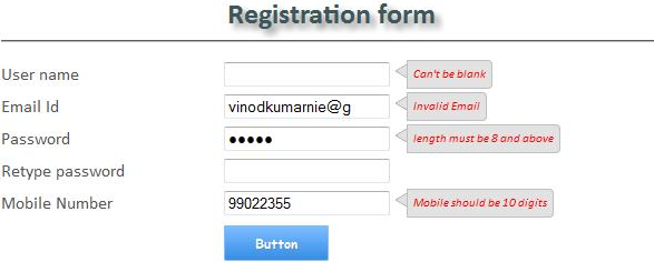 JQuery Validation for Registration Form Containing Name