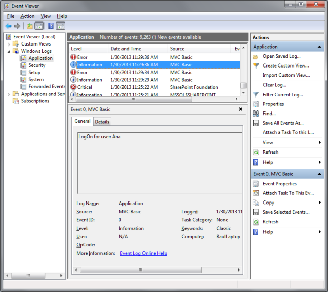 Error Log: MVC Basic Site: Step 2