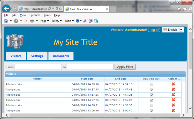 mvc basic site step 3 dynamic layouts and site admin with ajax