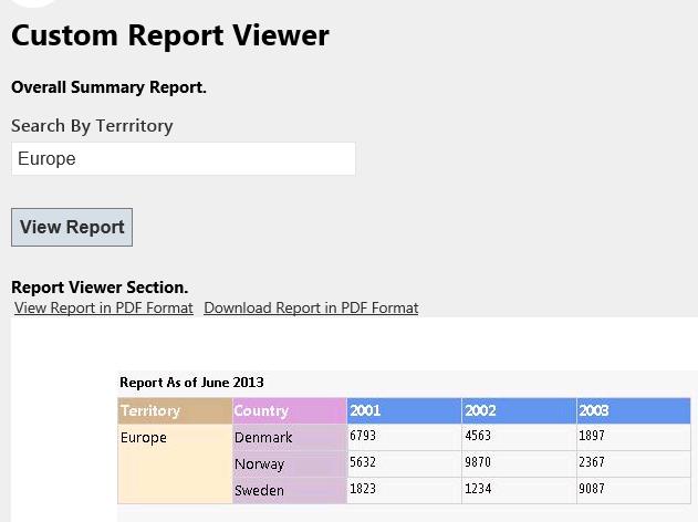 Prototype MVC4 Razor ReportViewer? RDLC - CodeProject