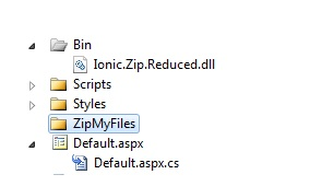 Uploading multiple files and creating a Zip File in ASP NET