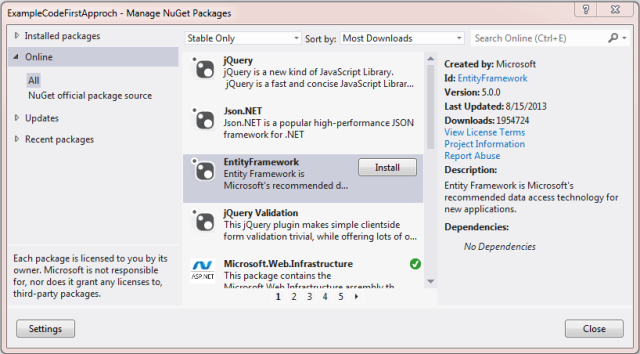 CRUD Operations Using Entity Framework 5 0 Code First Approach in