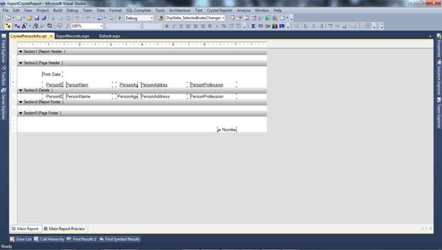 How to Export Crystal Report on Button Click in to PDF