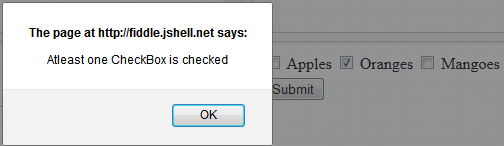ASP.NET CheckBox Validation Atleast one Checked