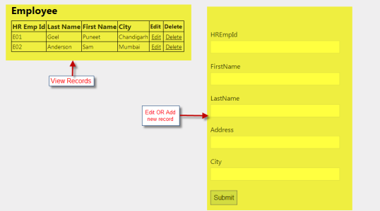 single page application using ajax