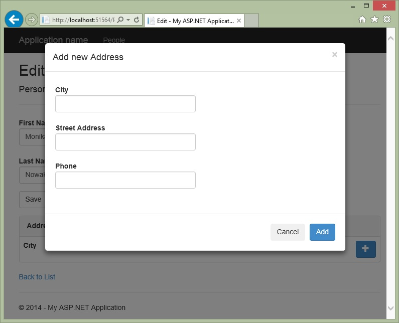 ASP NET MVC 5 List Editor with Bootstrap Modals - CodeProject