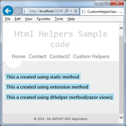 creating custom html helpers mvc 3 razor Creating custom html helpers mvc 3 - give your assignments to the most talented writers top-ranked and affordable paper to ease your studying stop getting.
