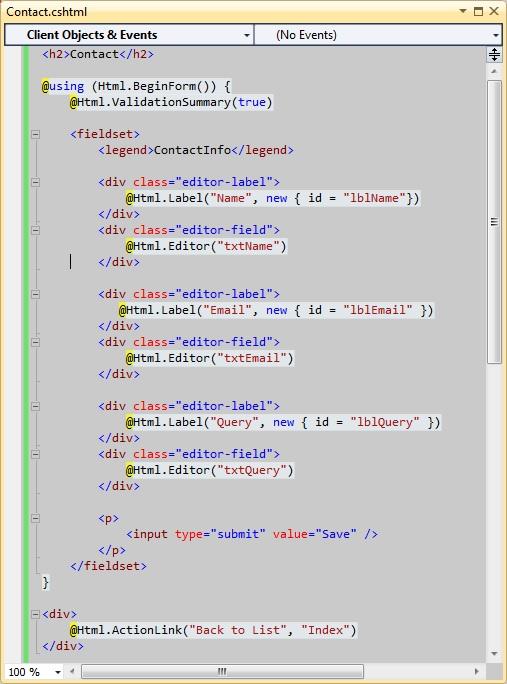 An Absolute Beginner's Tutorial on HTML Helpers and Creating Custom HTML Helpers in ASP.NET MVC