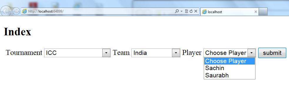 Dynamic DropDownList Binding in ASP NET MVC With Database - CodeProject