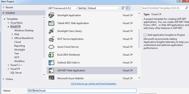 Creating rest api with oauth in vs 2013 codeproject steps to create api with oauth malvernweather Gallery