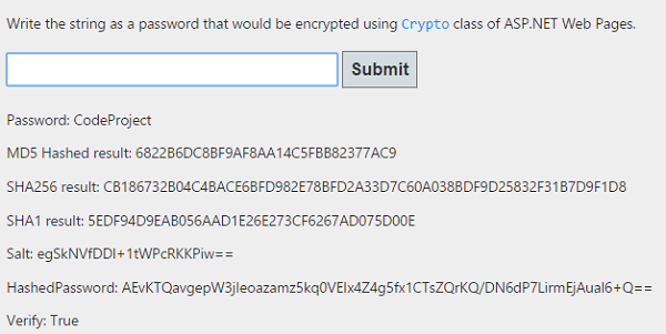 Hashing Passwords using ASP NET's Crypto Class - CodeProject