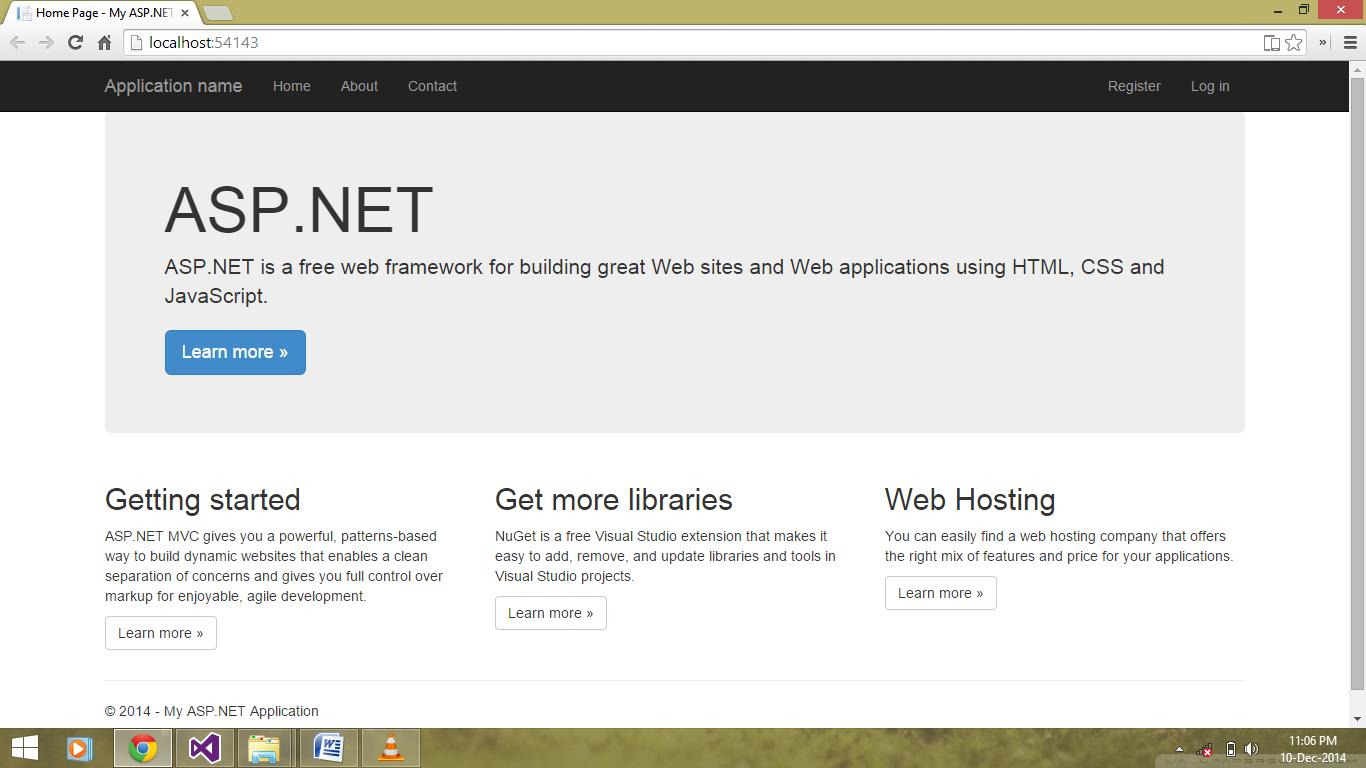 Learn ASP.NET MVC - Home   Facebook