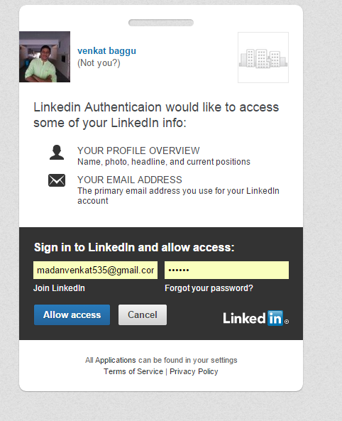 Linkedin Authentication In Asp Net Mvc Codeproject
