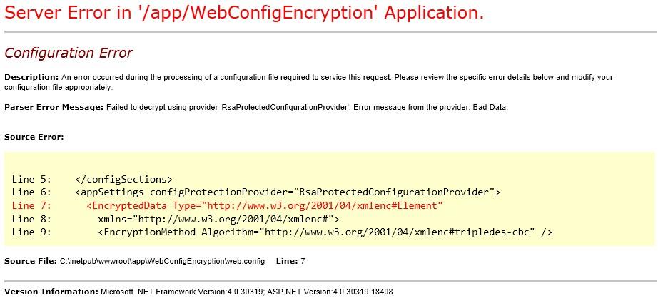 web config