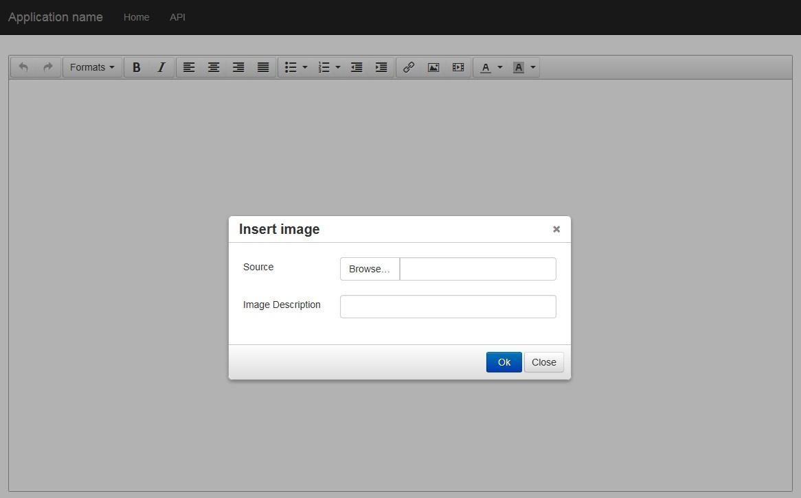 TinyMCE image insert plugin with ASP NET WebApi2 - CodeProject