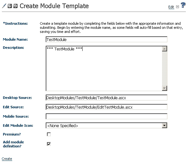 Automated module creation tool for dotnetnuke codeproject for Training module template free