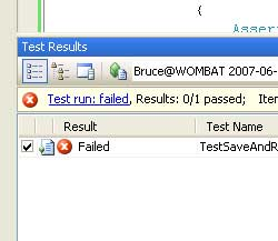 Screenshot - Failed Unit Tests
