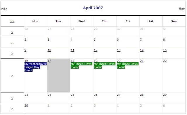 Event Calendar  AspNet   C   Codeproject