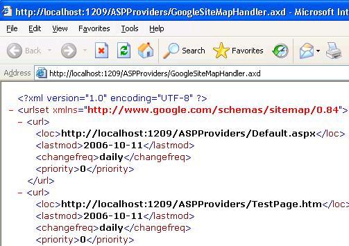 ASP.NET Google Site Map Provider